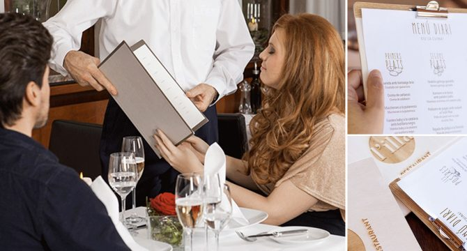 La importancia del menú en un restaurante